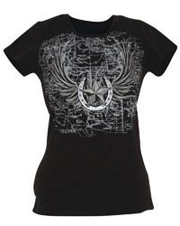 T-Shirt winged horse black